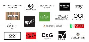 Collage of brands available at 360 Eyecare - Metro