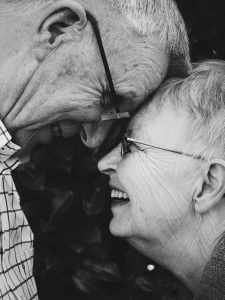 Elderly Couple with glasses